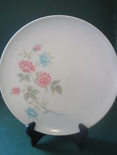 Vintage Texas Ware Pink Roses & Bluebells Melamine Melmac Dinner Plates