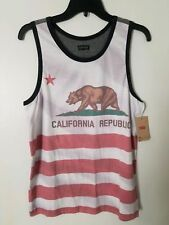 496455d68aae8 Levis Levi Strauss California Republic Flag Tank Top T-shirt Size XL