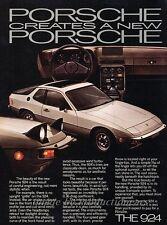 1977 Porsche 924 - The New Porsche Original Advertisement Print Art Car Ad J815