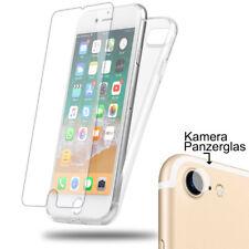 iPhone 7 8 Panzerglas 9H Crystal Transparent Case Silikon Schutz Hülle Cover