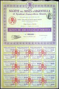 Société des Mines d'ARGENTELLA, (Corse) 1911 - N°001436