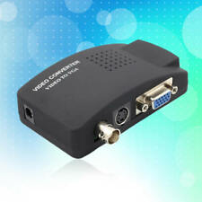 CCTV Composite S-video BNC To VGA Video Converter Adapter Black for PC Laptop