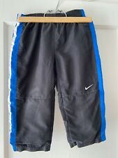 Nike Sweatpants Boys Size 3T Black With Blue And White Stripes On Sides