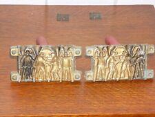 Vintage Pair of Cast Metal Toy Cops & Robbers Molds w/ Wood Handles