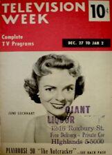 TV Guide 1958 June Lockhart Barbara Eden Lost in Space Regional TV Week COA