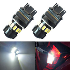 2x 3157 High Power 5630 Chip 6000K White Backup Reverse LED Lights Bulbs