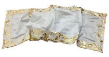 Melrose International Metallic Gold Edged White Table Runner 16x72 inches