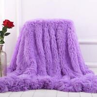 Elegant Cozy Blanket Fluffy Sherpa Sofa Super Soft Long Shaggy Fuzzy Winter New