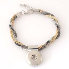Silver & Gold 18mm Magnolia Jewelry Fits Gingersnap Ginger Snap Snaps Bracelet