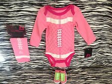 NEW GIRLS NIKE AIR JORDAN BABY BOOTIES 0-6M BODYSUIT FOOTBALL 3-6M LEG WARMERS