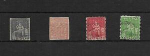 Colonias Inglesas. Trinidad. Conjunto de 4 sellos clásicos
