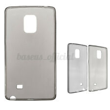 Ultra Thin TPU Transparent Gray Flexible Cover Case For Samsung GALAXY Note Edge