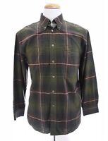 Turnbury Mens Tartan Plaid Button Down Up Shirt Christmas Green Sz Medium 33