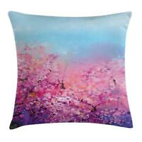 Spring Floral Throw Pillow Cases Cushion Covers Ambesonne Home Decor 8 Sizes