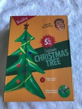 5.6 Foot  Wembley Christmas Tree Inflatable Holiday. Has Tabs For Real Ornaments