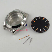 40mm parnis sapphire glass mens watch case set fit 8215 821A 2813 movement