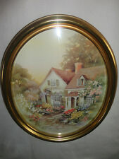 Home Interiors Oval '' Garden Infront of House '' Picture   Gorgeous 18'' x 22''