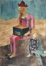 Pablo Picasso, Saltimbanco Sitting With Boy, Hand Signed Lithograph