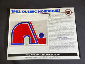 Willabee & Ward NHL Official Patch 1982 Quebec Nordiques