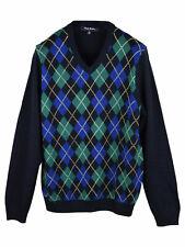 Brooks Brothers Boys Argyll V-Neck Long Sleeve Sweatshirt