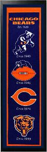 Encore Select Chicago Bears Logo History Felt Banner 14 x 37