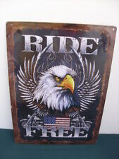 American Eagle Ride Free Metal Sign - NEW