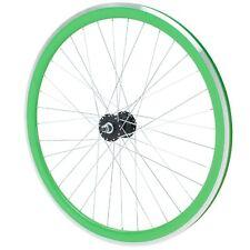 "Fixie Hinterrad 700c Fahrrad Felge 28"" Galano Blade Flip Flop grün B-WARE"