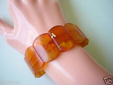 Antikes Honig Butterscotch Wolken Natur Bernstein Armband Amber 20,5 g