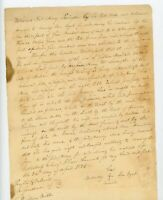 Handwritten Will Henry Livingston Killian Miller Esq Nancy Van Dyck NY 1825 deed