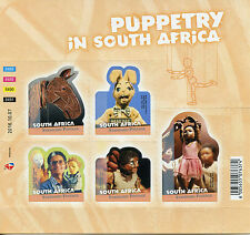 South Africa 2016 MNH Puppets Puppetry in South Africa 5v S/A M/S Stamps