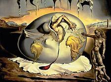 Incorniciato stampa-Salvador Dali geopoliticus bambino nascita della nuova MAN (painting)