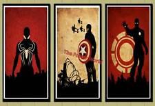 Marval Ironman Capitán América Spider-Man Imagen Cartel Pared Arte Impresión