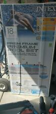Intex 18ft X 48 In Prism Frame Above Ground Swimming Pool Set - Nib - In Hand