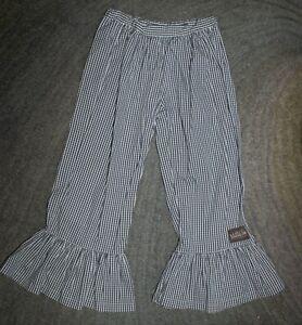 Matilda Jane (It's A Wonderful Parade) Picnic Ruffles Gingham Pants -Size 8- EUC