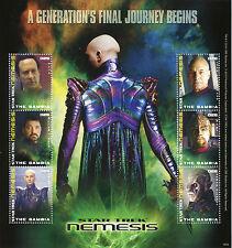 Gambia 2010 MNH Star Trek Nemesis 6v M/S Picard Riker Worf Data Shinzon Stamps