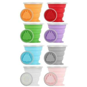 270ML Collapsible Silicone Cup Coffee Mug Reusable Travel Foldable Portable Cups