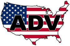 "#976 (1) 5"" ADV Dual Sport USA America  Motorcycle  Decal Sticker Laminated"