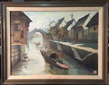 Chinese Artist Original Oil Painting Suzhou