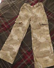 Girls Size 6 Tan & White Pants
