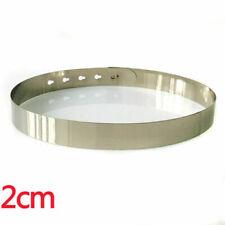 New Women Full Metal Shiny Mirror Statement Adjustable Waist Belt GOLD/SILVER US