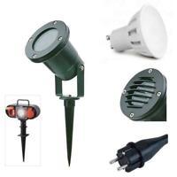 Gartenstrahler mit Erdspieß IP65 LED Strahler Außenstrahler Spießstrahler