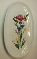 """Emerson Creek Pottery, 12"""" Oval Platter, 1993 Spring Flowers Pre-Owned Excellent"""