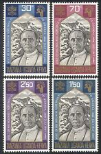 Kenya Uganda Tanzania 1969 Pope Paul VI/People/Church/Religion 4v set (n40225)