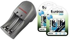 UNiROSS AA/AAA MINI COMPACT CHARGER+ 8 x AA 2600 SERIES