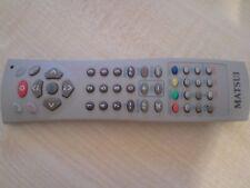 Genuine Original Matsui 14m1105 Tvdvd1410 TV DVD DVB Remote Control