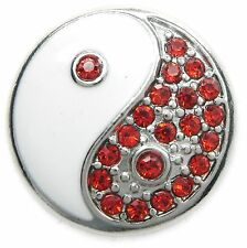 Nuevo pulsador Yin & yang pedrería rojo ying yang para pulsera/pulseras