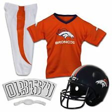 Denver Broncos Uniform Set Youth NFL Football Jersey Helmet Kids Costume Medium