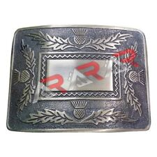 Scottish Highland Thistle Design Kilt Belt Buckle High Quality Antique Finish