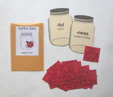 Teacher Made Literacy Center Learning Resource Game Suffixes ful & ness