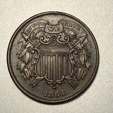 1864 SMALL MOTTO  2 CENT PIECE   XF+    KEY DATE